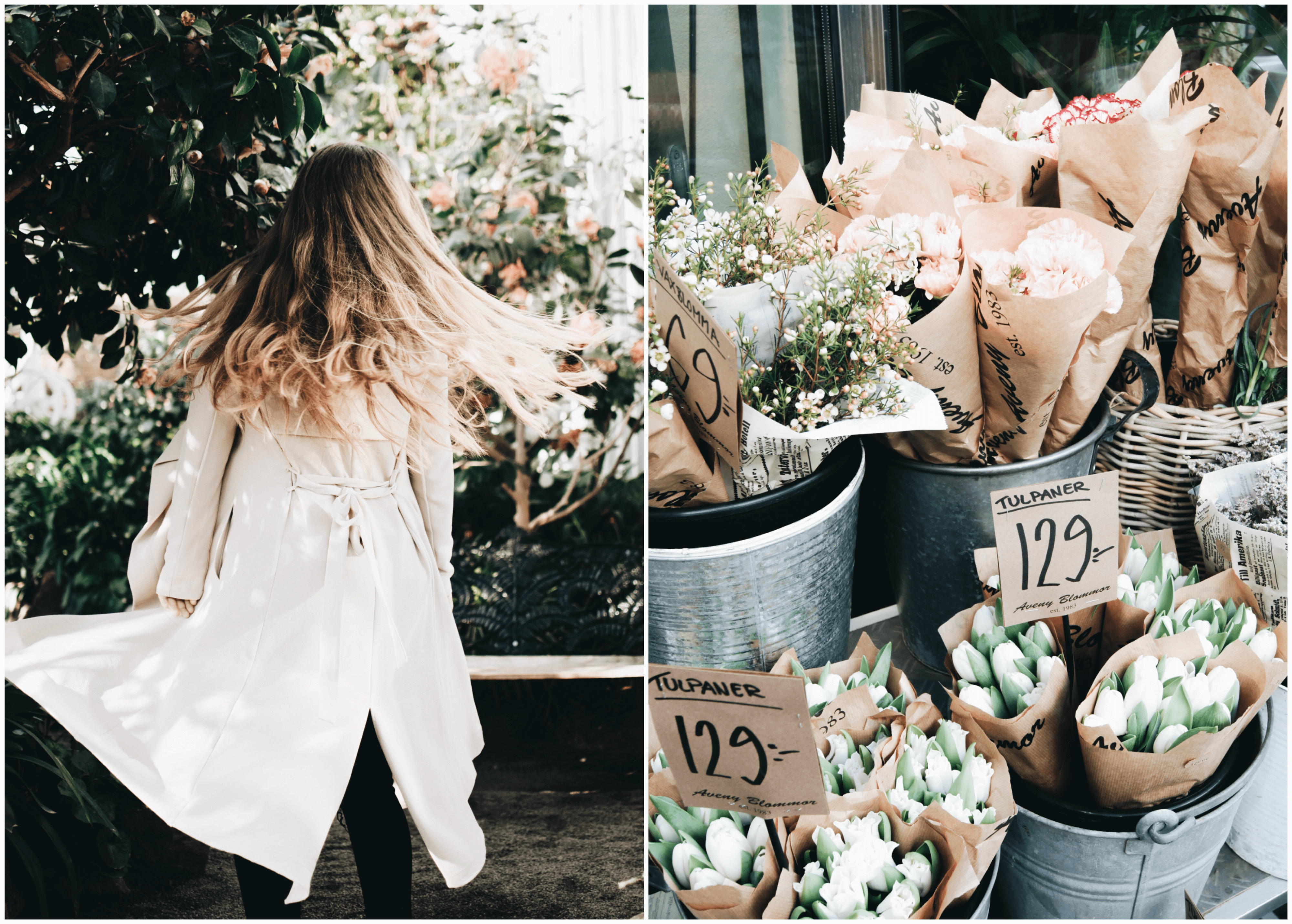 My holiday week – spring photoshoot in the palm house with Amanda!